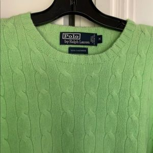 Polo Ralph Lauren 100% Cashmere Cable Knit Sweater
